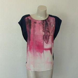 Watercolor cap sleeve top